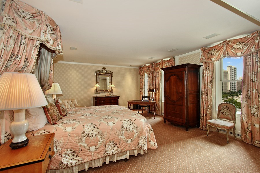Real Estate Photography - 189 E Lake Shore Dr, Unit 10, Chicago, IL, 60611 - Master Bedroom