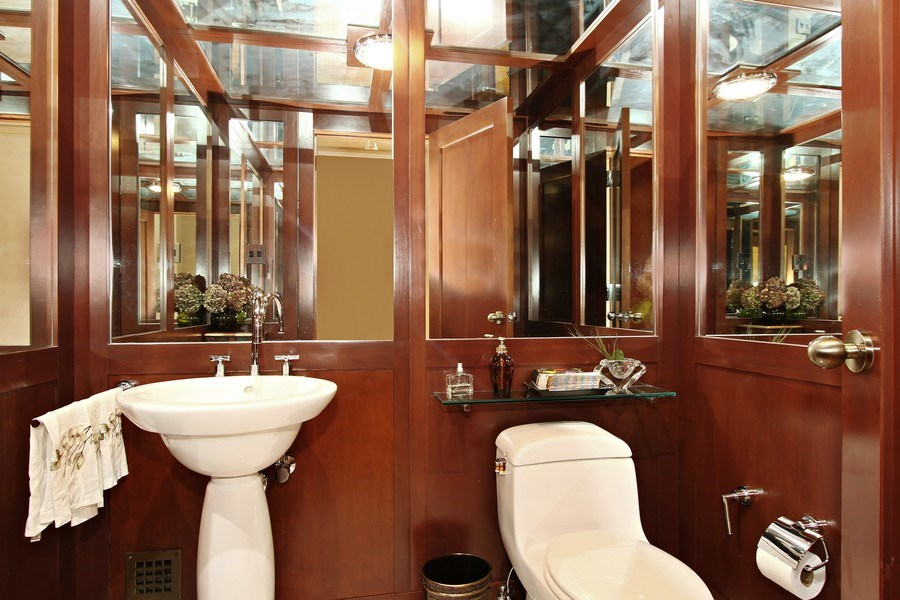 Real Estate Photography - 189 E Lake Shore Dr, Unit 10, Chicago, IL, 60611 - Powder Room