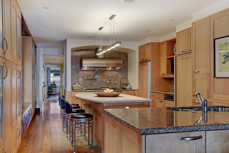 Real Estate Photography - 189 E Lake Shore Dr, Unit 10, Chicago, IL, 60611 - Kitchen