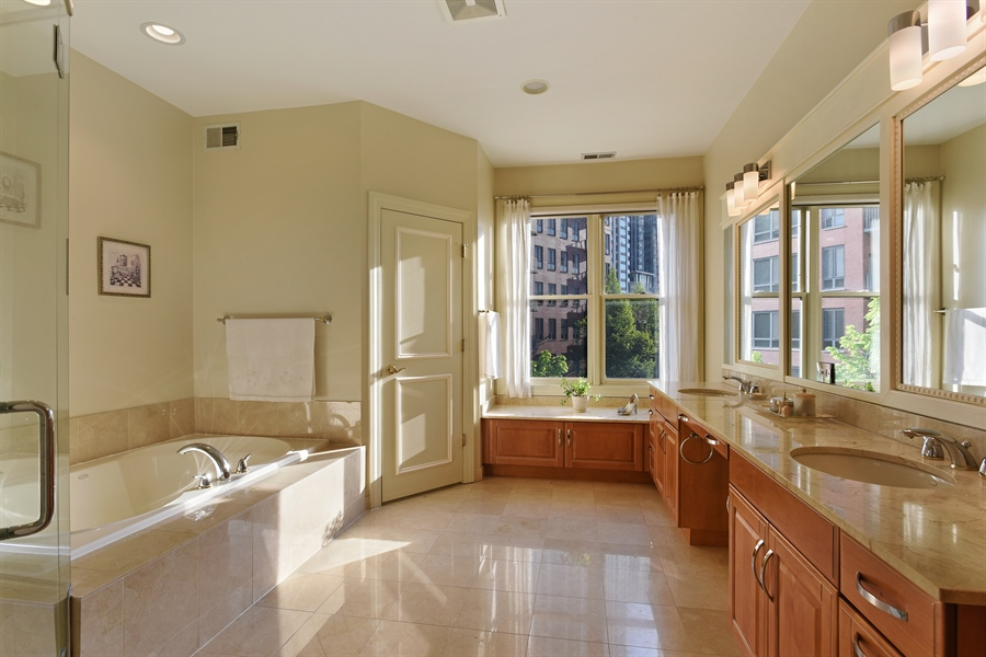 Real Estate Photography - 409 N. Canal, Chicago, IL, 60654 - Master Bathroom