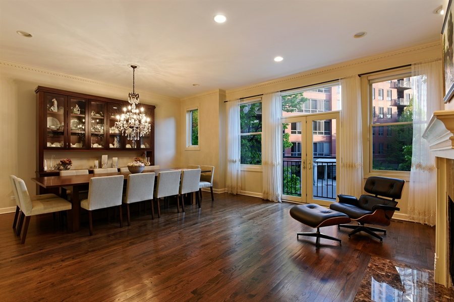 Real Estate Photography - 409 N. Canal, Chicago, IL, 60654 - Dining Area