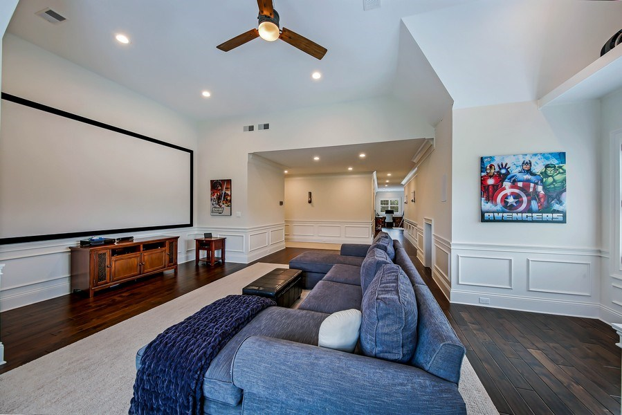Real Estate Photography - 8545 Kearney Road, Downers Grove, IL, 60516 - Theatre Room