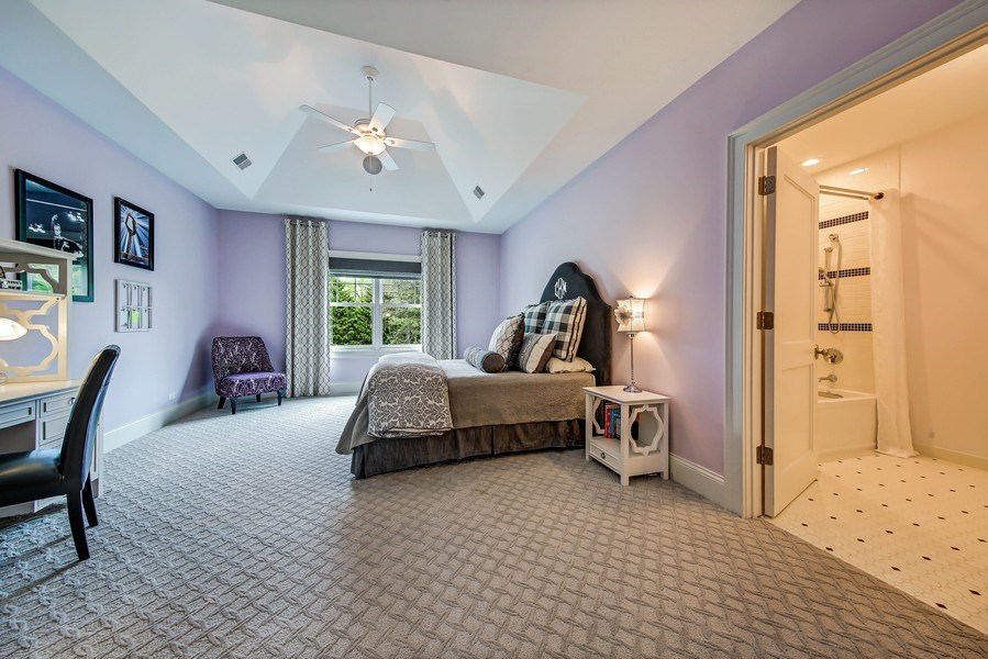 Real Estate Photography - 8545 Kearney Road, Downers Grove, IL, 60516 - En Suite Bedroom