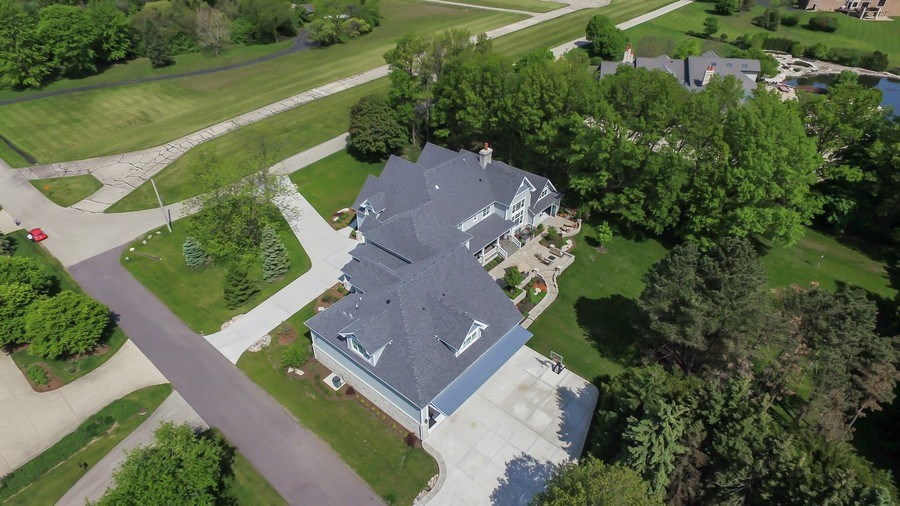 Real Estate Photography - 8545 Kearney Road, Downers Grove, IL, 60516 - Aerial View