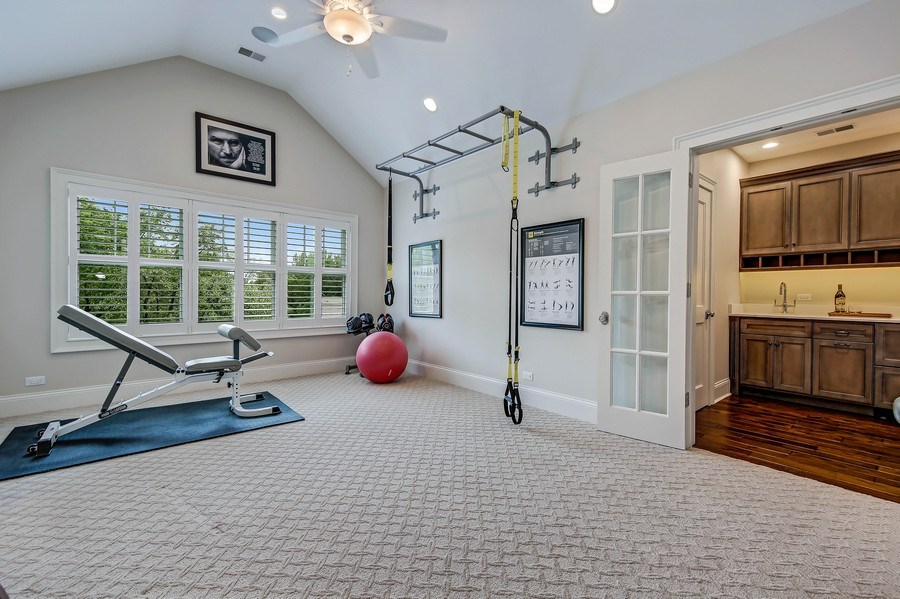 Real Estate Photography - 8545 Kearney Road, Downers Grove, IL, 60516 - Master Bedroom Exercise Room