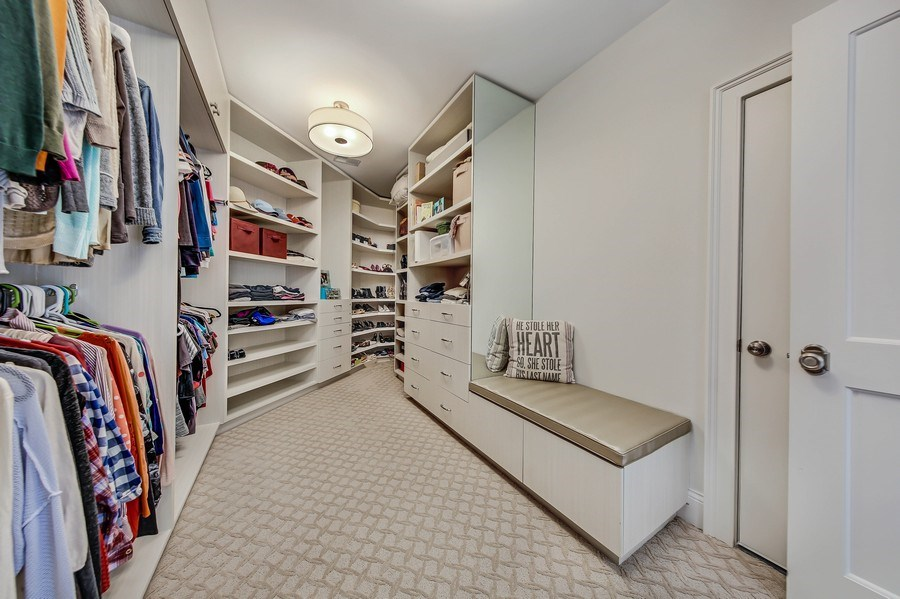 Real Estate Photography - 8545 Kearney Road, Downers Grove, IL, 60516 - Master Bedroom Closet