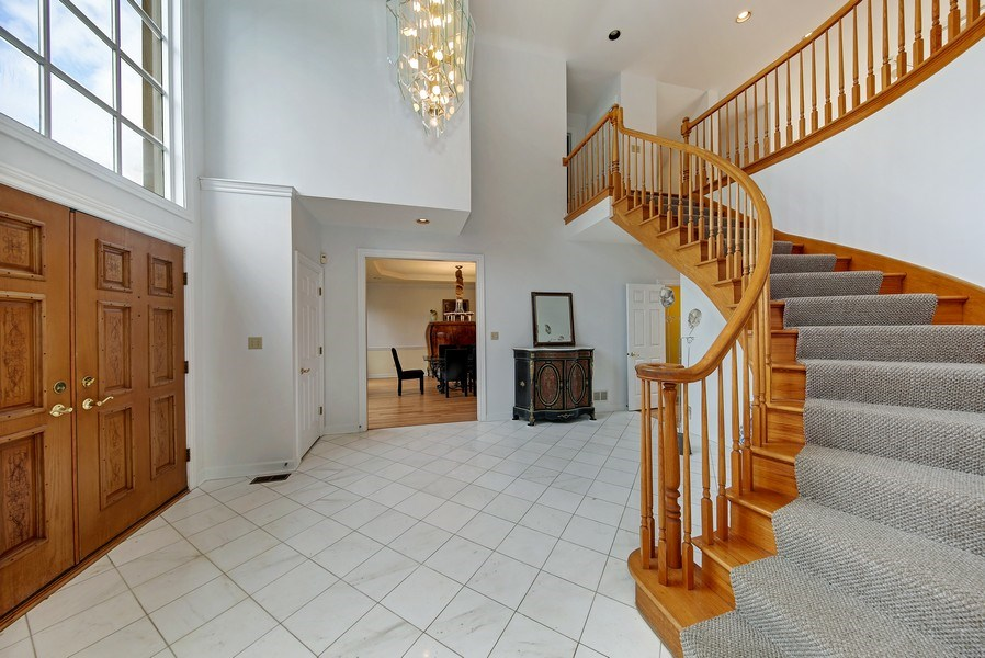 Real Estate Photography - 47 Brookside, Lemont, IL, 60439 - Foyer Side View to Dining Room