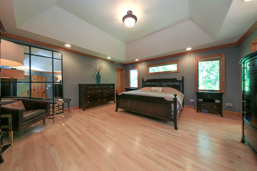 Real Estate Photography - 8981 Orchard, Willow Springs, IL, 60480 - Master Bedroom
