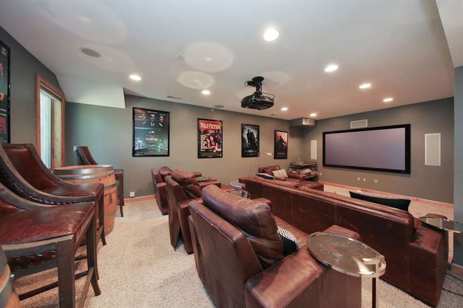 Real Estate Photography - 8981 Orchard, Willow Springs, IL, 60480 - Media Room