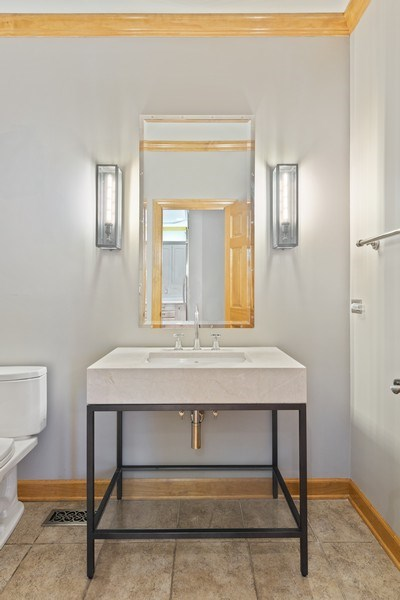 Real Estate Photography - 8981 Orchard, Willow Springs, IL, 60480 - Powder Room