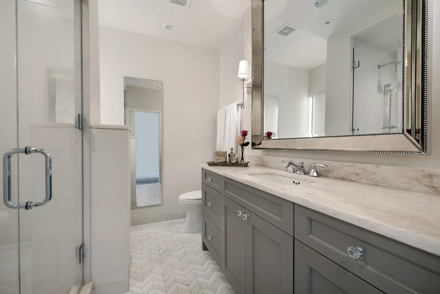 "Real Estate Photography - 1555 N Astor, 48W, Chicago, IL, 60610 - Master Bath, ""Her"" Vanity"