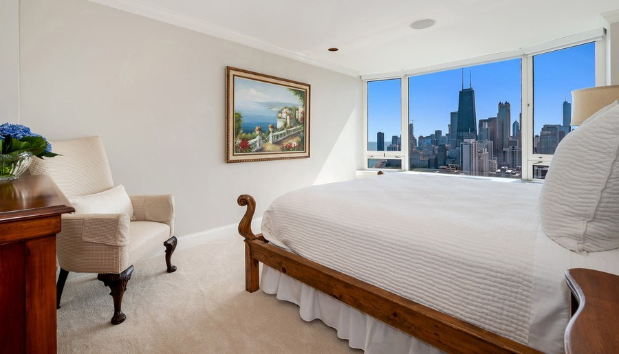 Real Estate Photography - 1555 N Astor, 48W, Chicago, IL, 60610 - Second Bedroom