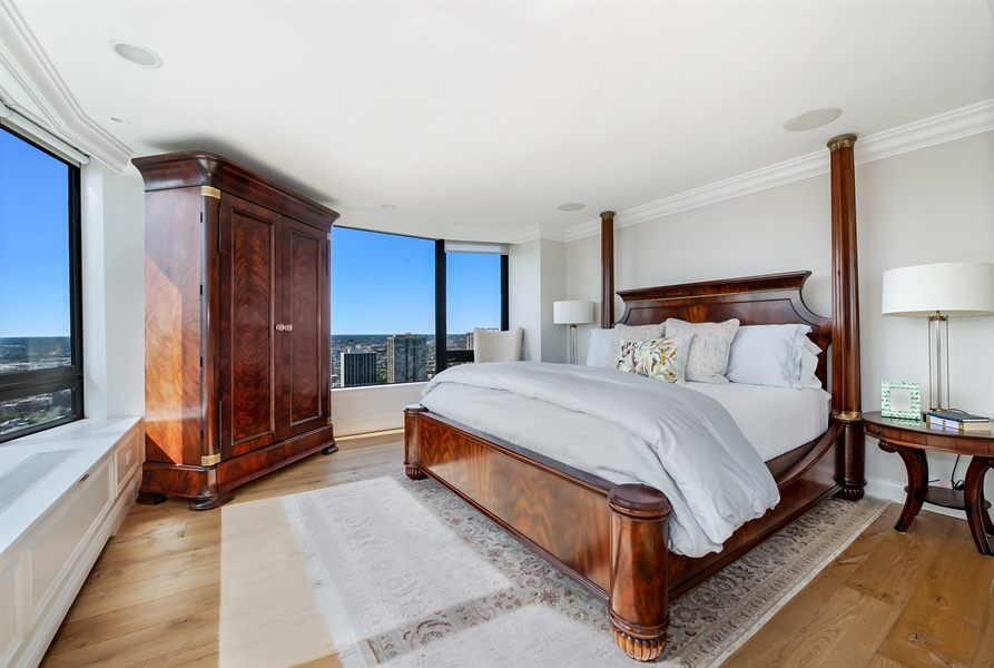 Real Estate Photography - 1555 N Astor, 48W, Chicago, IL, 60610 - Master Bedroom, Another View