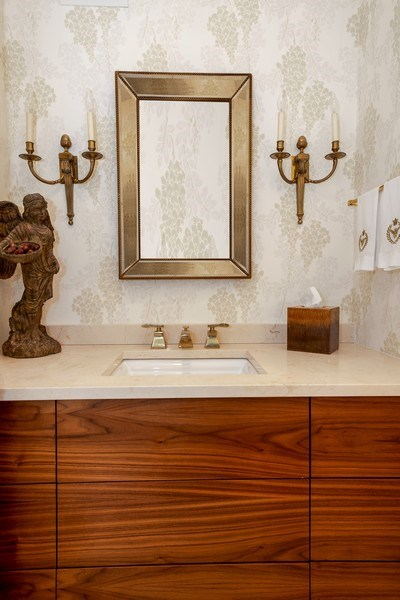 Real Estate Photography - 1555 N Astor, 48W, Chicago, IL, 60610 - Powder Room