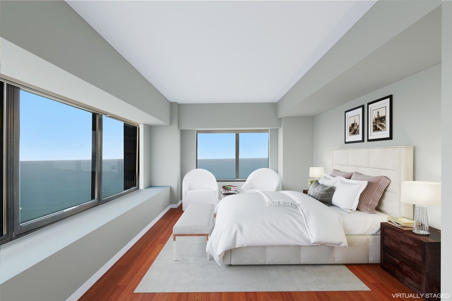 Real Estate Photography - 175 E. Delaware Place, 5909, Chicago, IL, 60611 - MASTER BEDROOM