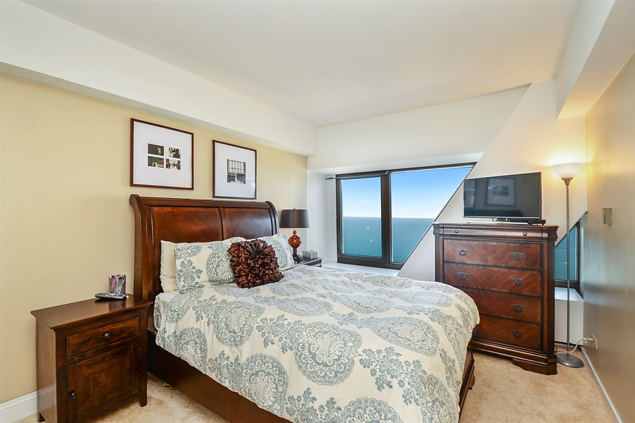 Real Estate Photography - 175 E. Delaware Place, 5909, Chicago, IL, 60611 - GUEST BEDROOM