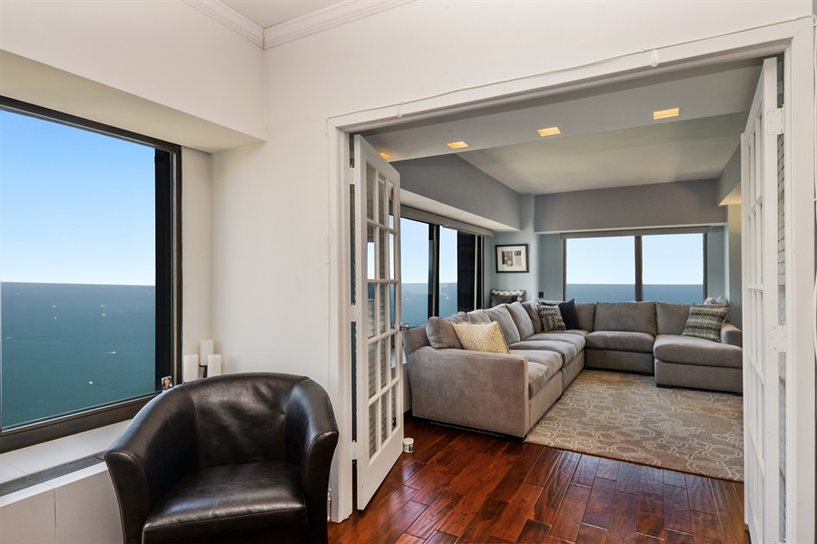 Real Estate Photography - 175 E. Delaware Place, 5909, Chicago, IL, 60611 - Living Room