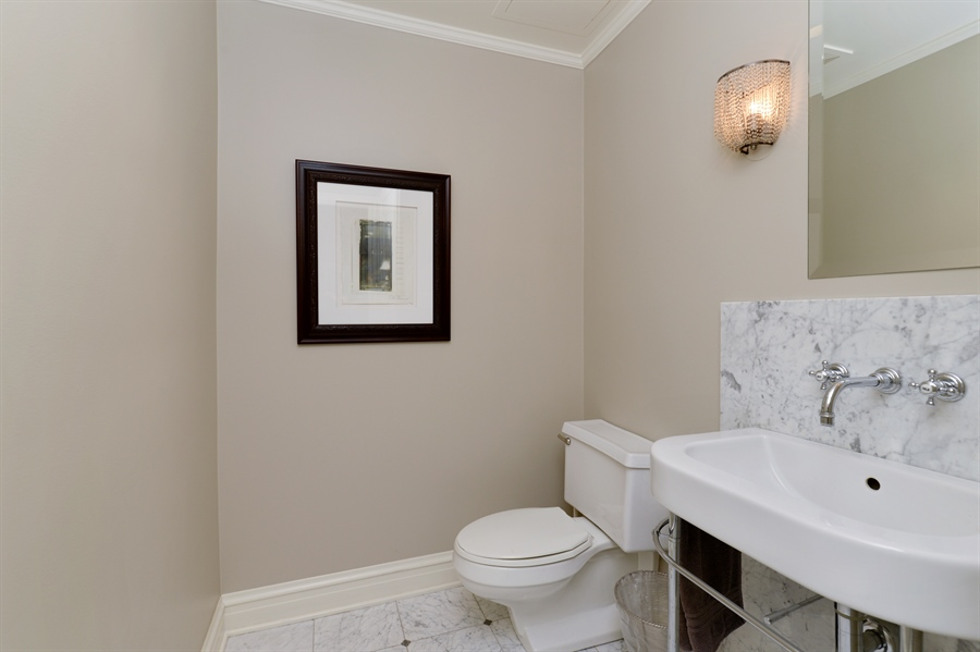 Real Estate Photography - 3400 N Lake Shore Drive, 6E, Chicago, IL, 60657 - Powder Room