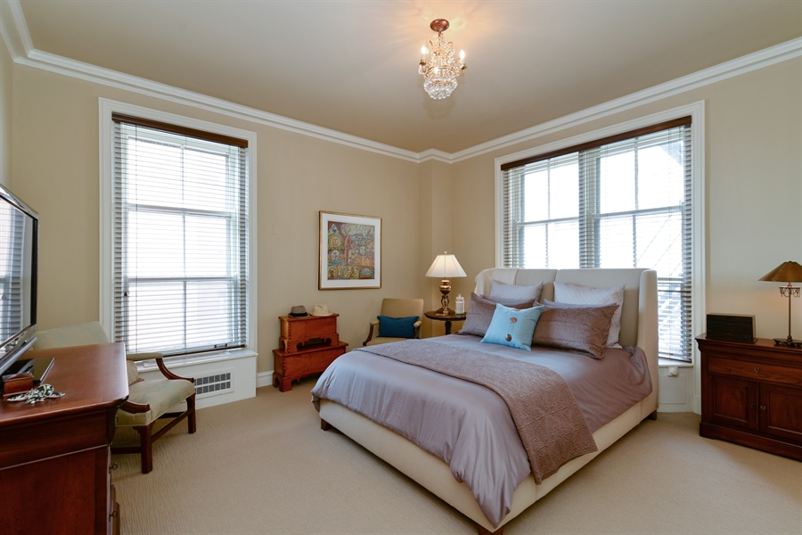 Real Estate Photography - 3400 N Lake Shore Drive, 6E, Chicago, IL, 60657 - Master Bedroom