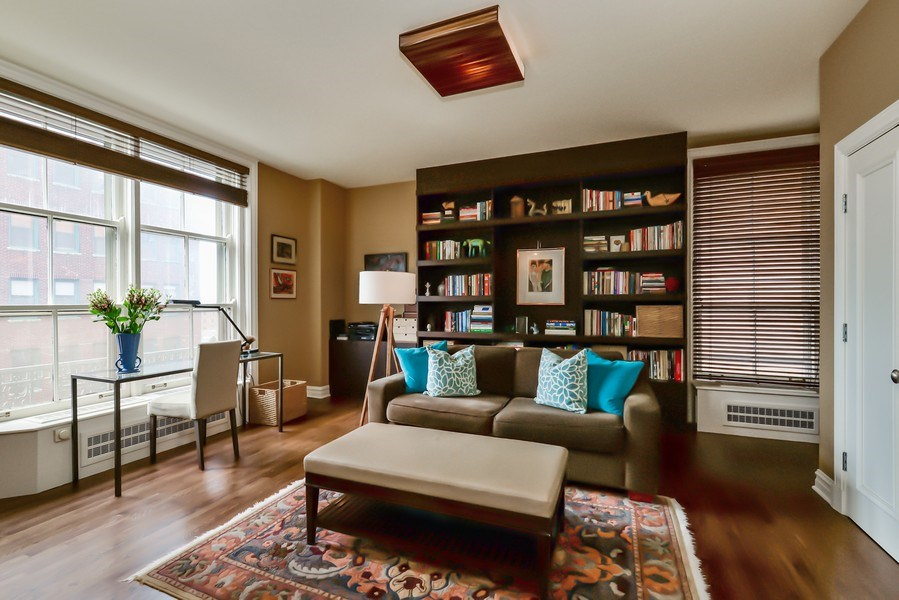 Real Estate Photography - 3400 N Lake Shore Drive, 6E, Chicago, IL, 60657 - Guest Bedroom/Den