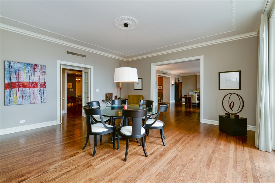 Real Estate Photography - 3400 N Lake Shore Drive, 6E, Chicago, IL, 60657 - Dining Area