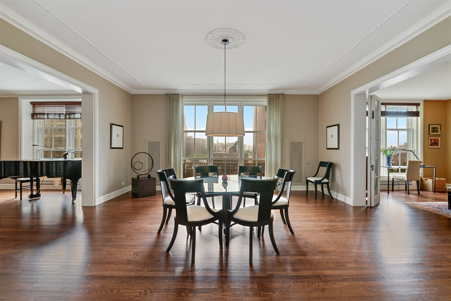 Real Estate Photography - 3400 N Lake Shore Drive, 6E, Chicago, IL, 60657 - Dining Room