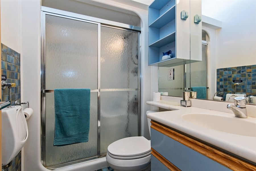 Real Estate Photography - 5 Summit Dr, Dune Acres, IN, 46304 - 3rd Bathroom