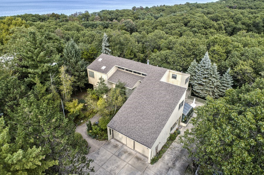 Real Estate Photography - 5 Summit Dr, Dune Acres, IN, 46304 - Aerial View