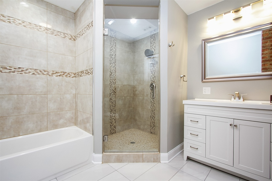 Real Estate Photography - 7400 S Stony Island Ave, 302, Chicago, IL, 60649 - Master Bathroom