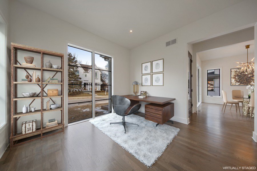Real Estate Photography - 22 E 6th St, Hinsdale, IL, 60521 - Living Room / Office