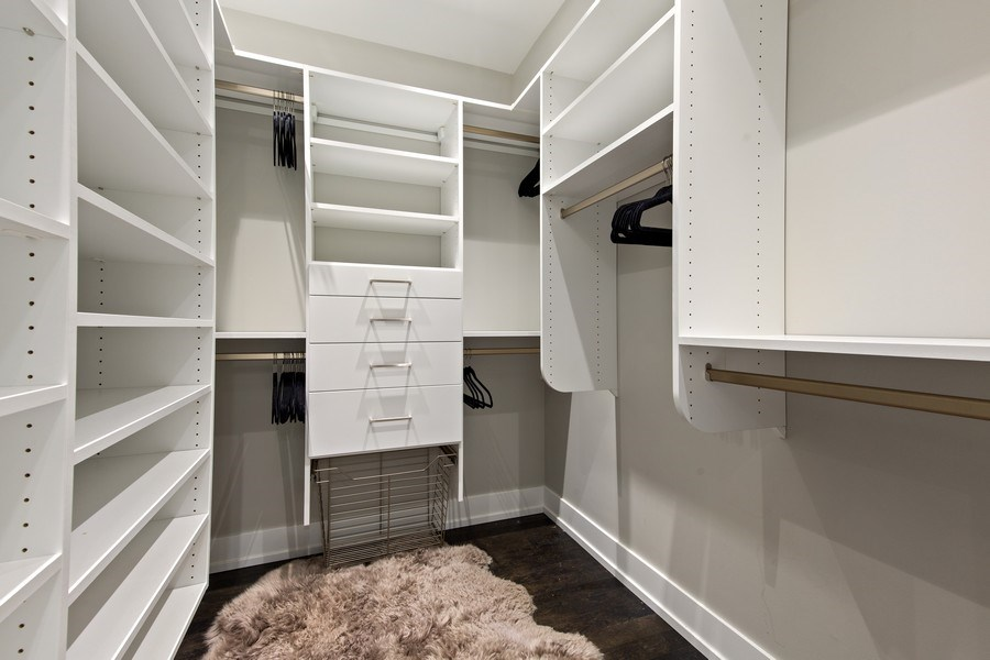 Real Estate Photography - 175 E Delaware, Unit 6402-03, Chicago, IL, 60611 - 2nd Master en-suite walk in closet