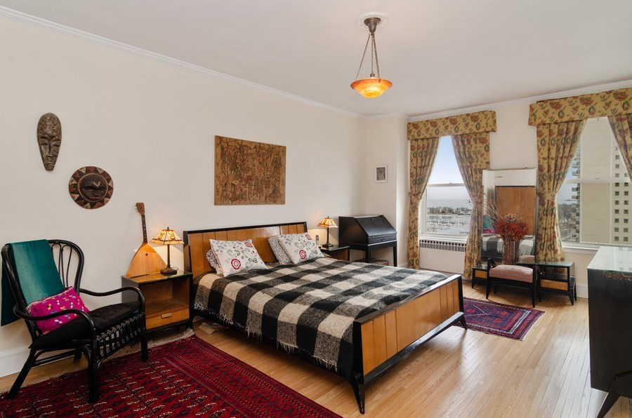Real Estate Photography - 3500 North Lake Shore Drive, #12B, Chicago, IL, 60657 - Master Bedroom