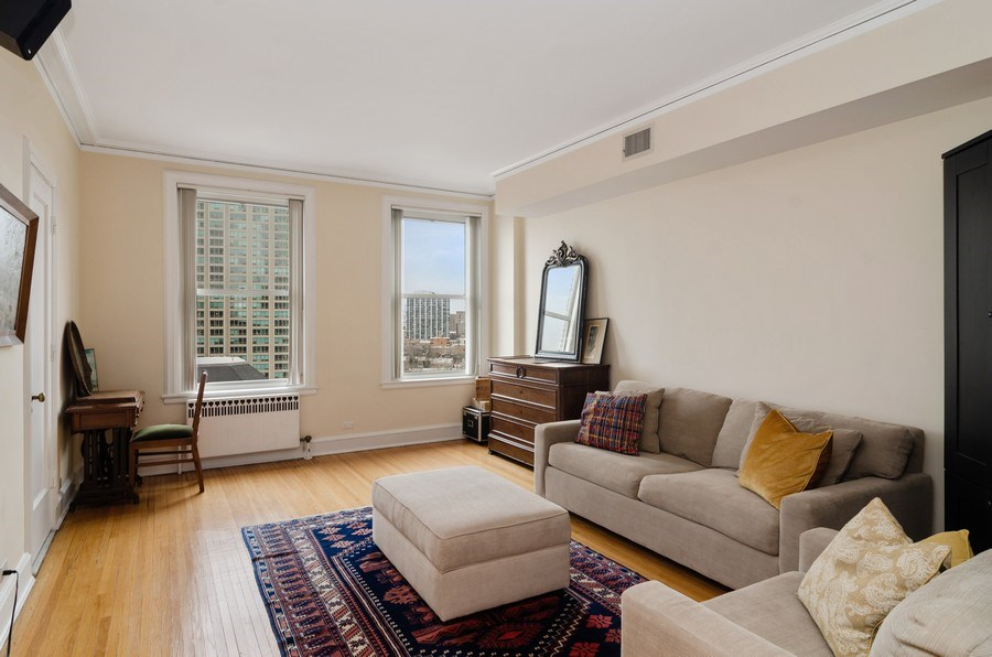 Real Estate Photography - 3500 North Lake Shore Drive, #12B, Chicago, IL, 60657 - Family Room
