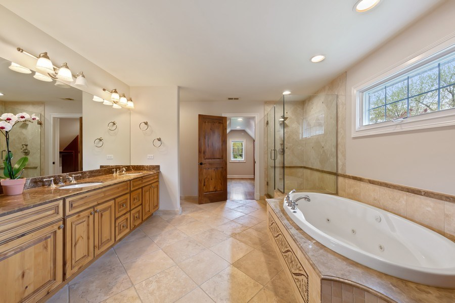 Real Estate Photography - 519 The Lane, Hinsdale, IL, 60521 - Master Bathroom