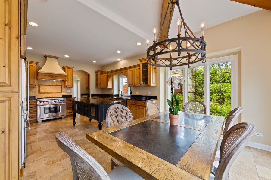 Real Estate Photography - 519 The Lane, Hinsdale, IL, 60521 - Breakfast Area