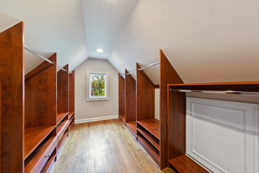Real Estate Photography - 519 The Lane, Hinsdale, IL, 60521 - Master Bedroom Closet