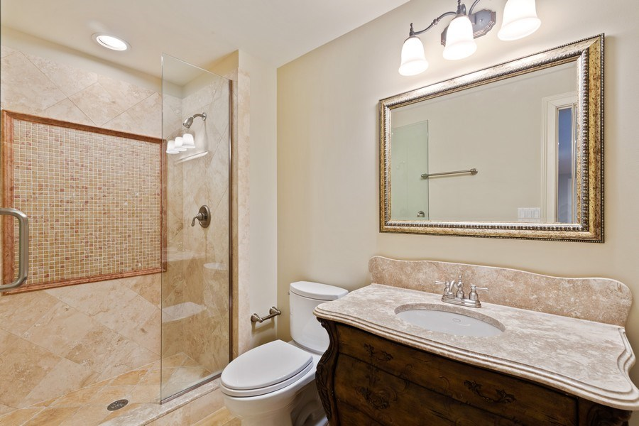 Real Estate Photography - 519 The Lane, Hinsdale, IL, 60521 - Basement Full Bathroom