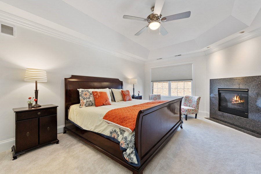 Real Estate Photography - 802 Franklin, Hinsdale, IL, 60521 - Master Bedroom