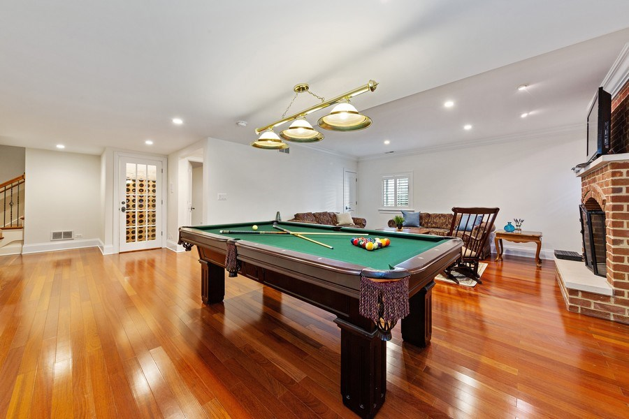 Real Estate Photography - 802 Franklin, Hinsdale, IL, 60521 - Lower Level Game Room