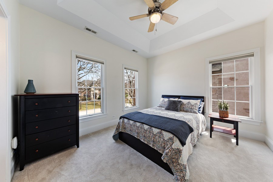 Real Estate Photography - 802 Franklin, Hinsdale, IL, 60521 - 2nd Bedroom with ensuite bathroom