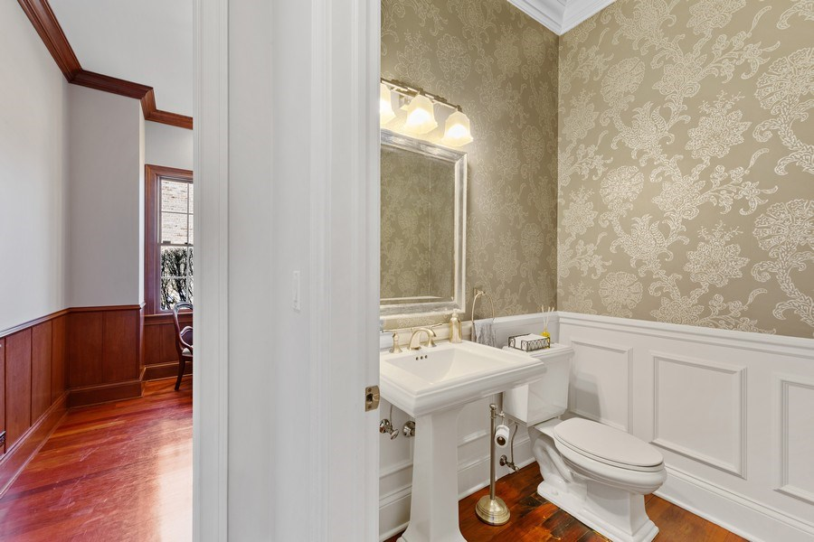 Real Estate Photography - 802 Franklin, Hinsdale, IL, 60521 - Powder Room