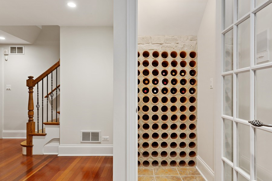Real Estate Photography - 802 Franklin, Hinsdale, IL, 60521 - Wine Cellar