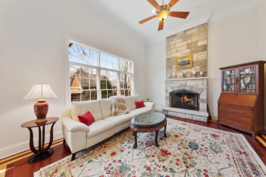 Real Estate Photography - 802 Franklin, Hinsdale, IL, 60521 - Family Room