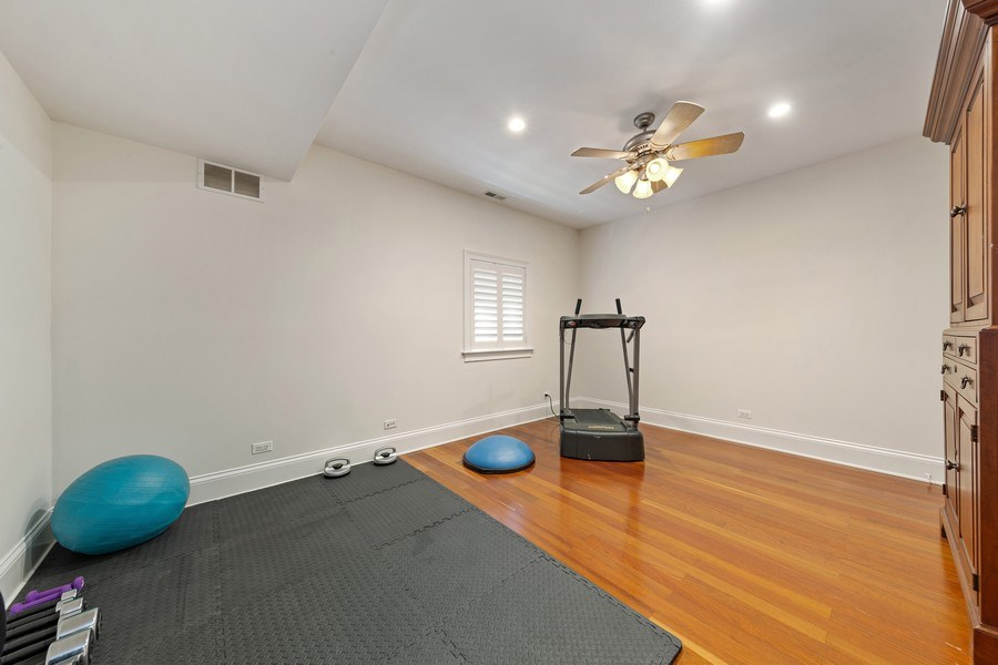 Real Estate Photography - 802 Franklin, Hinsdale, IL, 60521 - Workout Room / Bedroom 6