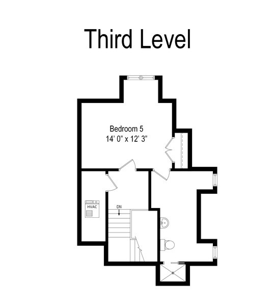 Real Estate Photography - 802 Franklin, Hinsdale, IL, 60521 - Floor Plan Third Floor