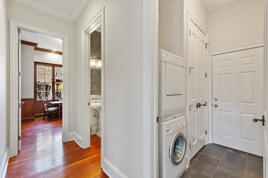 Real Estate Photography - 802 Franklin, Hinsdale, IL, 60521 - Mud Room with 2nd laundry