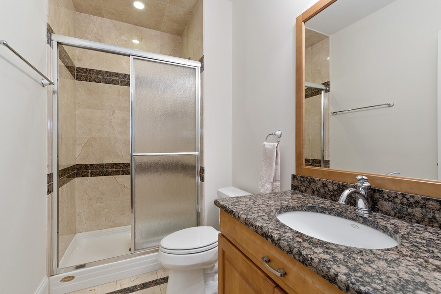 Real Estate Photography - 802 Franklin, Hinsdale, IL, 60521 - Lower Level Bathroom