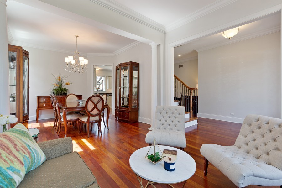 Real Estate Photography - 802 Franklin, Hinsdale, IL, 60521 - Living Room / Dining Room
