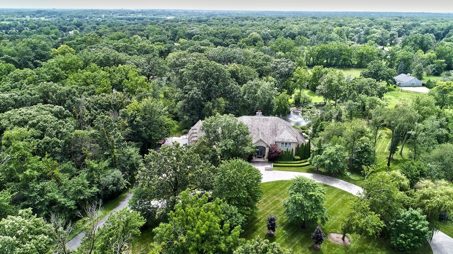 Real Estate Photography - 33W295 Surrey Rd, Wayne, IL, 60184 - Aerial View