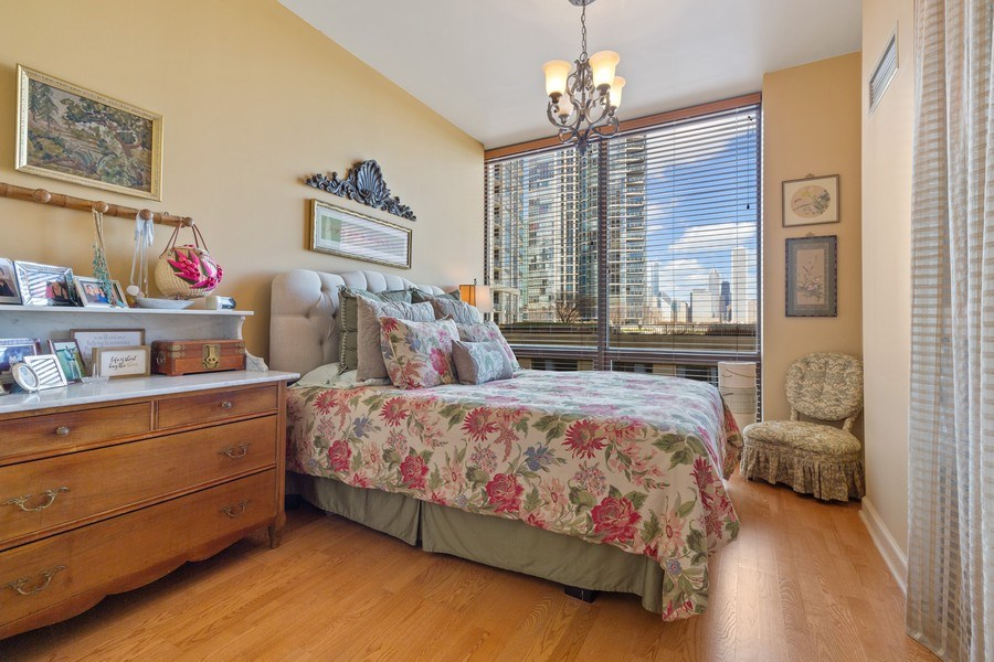 Real Estate Photography - 233 E 13th St, Unit 604, Chicago, IL, 60605 - Bedroom